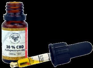 30% CBD v MCT oleji, Full Spectrum, 10 ml,