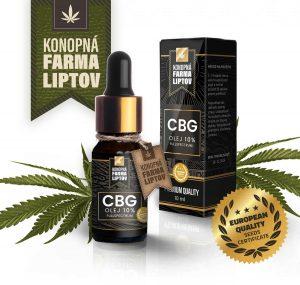 10% CBG olej, 10 ml, Konopná farma liptov