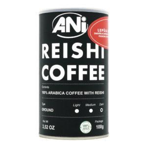 čierna mletá káva s Reishi, 100g,