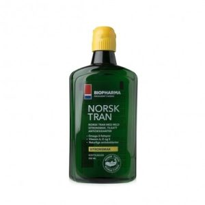 Biopharma Nórsky rybí olej s prírodnou citrónovou príchuťou, Norsk Tran 375 ml